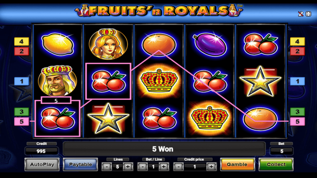 Характеристики слота Fruits And Royals 8