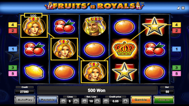 Характеристики слота Fruits And Royals 9