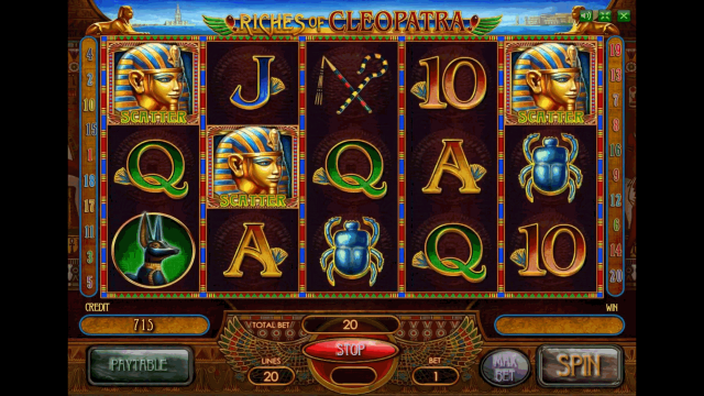 Бонусная игра Riches Of Cleopatra 10