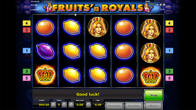 Характеристики слота Fruits And Royals 2
