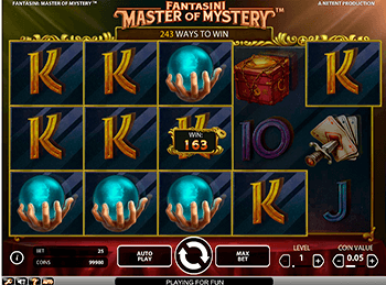 Характеристики слота Fantasini: Master Of Mystery 4