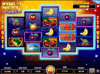 Игровой интерфейс Wheel Of Fortune: Triple Extreme Spin 1