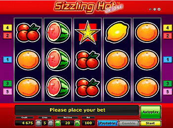 Бонусная игра Sizzling Hot Deluxe 5