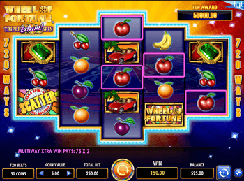 Игровой интерфейс Wheel Of Fortune: Triple Extreme Spin 2